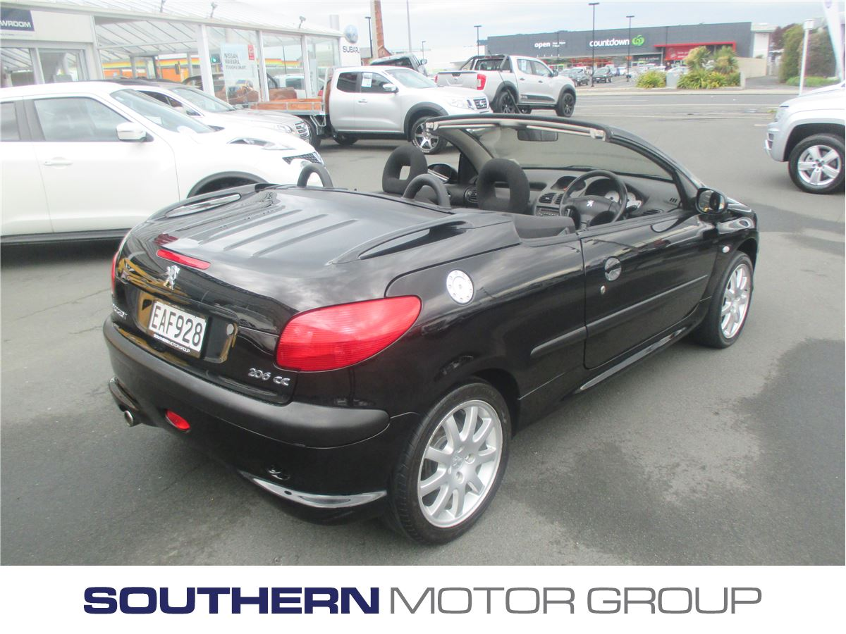 peugeot 206 cc 1 6 cabriolet 2003 used peugeot new zealand. Black Bedroom Furniture Sets. Home Design Ideas